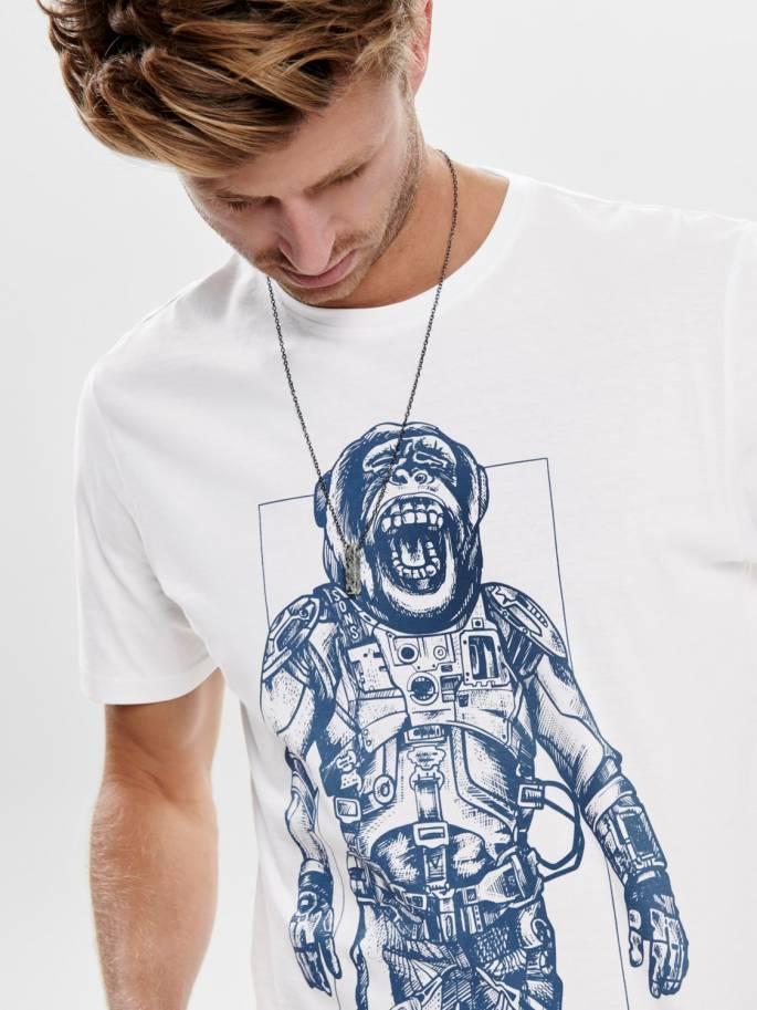 Mono Astronauta Camiseta Estampada - Only and sons - 22014616