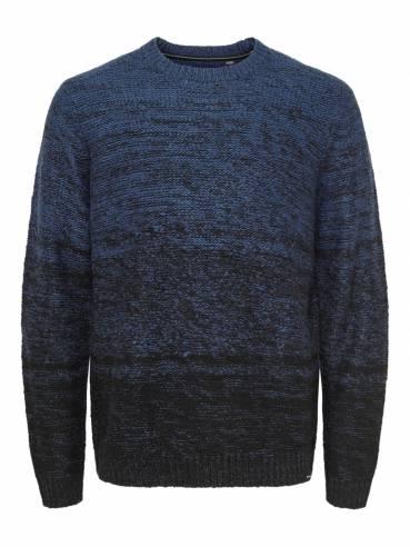 Jersey de punto de invierno color azul - Uesti