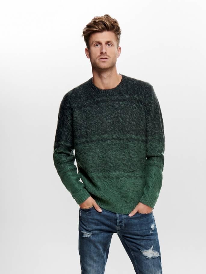 Jersey de punto de invierno color verde - Only and sons - 22014109