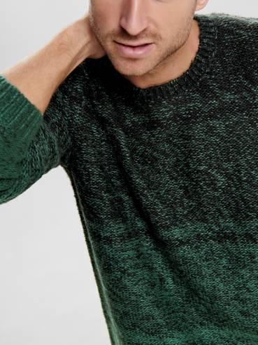 Jersey de punto de invierno color verde - Uesti