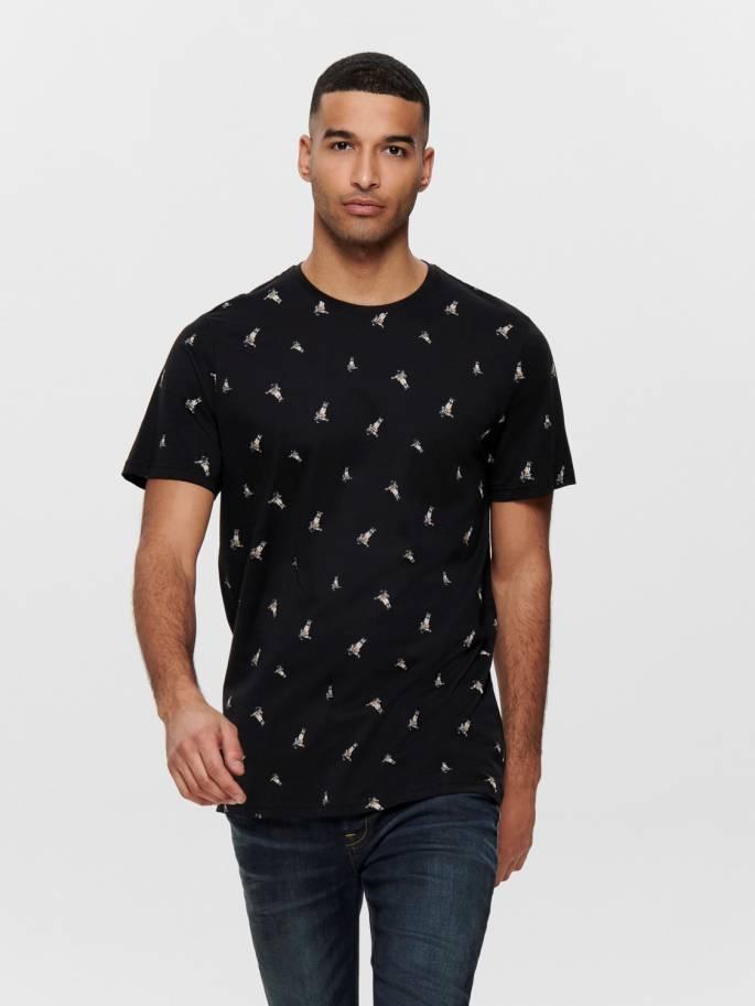 Camiseta con estampado integral de astronauta - Uesti