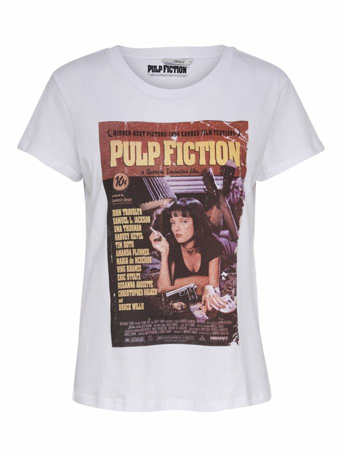 Camiseta estampado portada Pulp fiction Uma Thurman - Uesti
