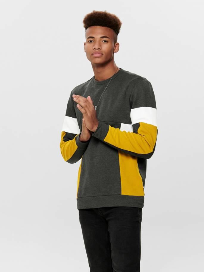 Sudadera chico con varios colores gris blanco y amarillo - 22014923