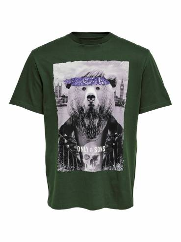 Camiseta con oso motorista -  Only and sons