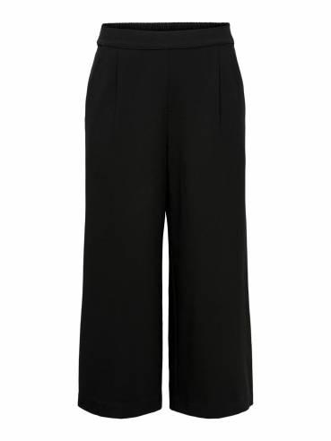 Pantalón negro básico de pata de elefante - Only