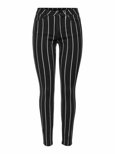 Pantalón con estampado de rayas para mujer