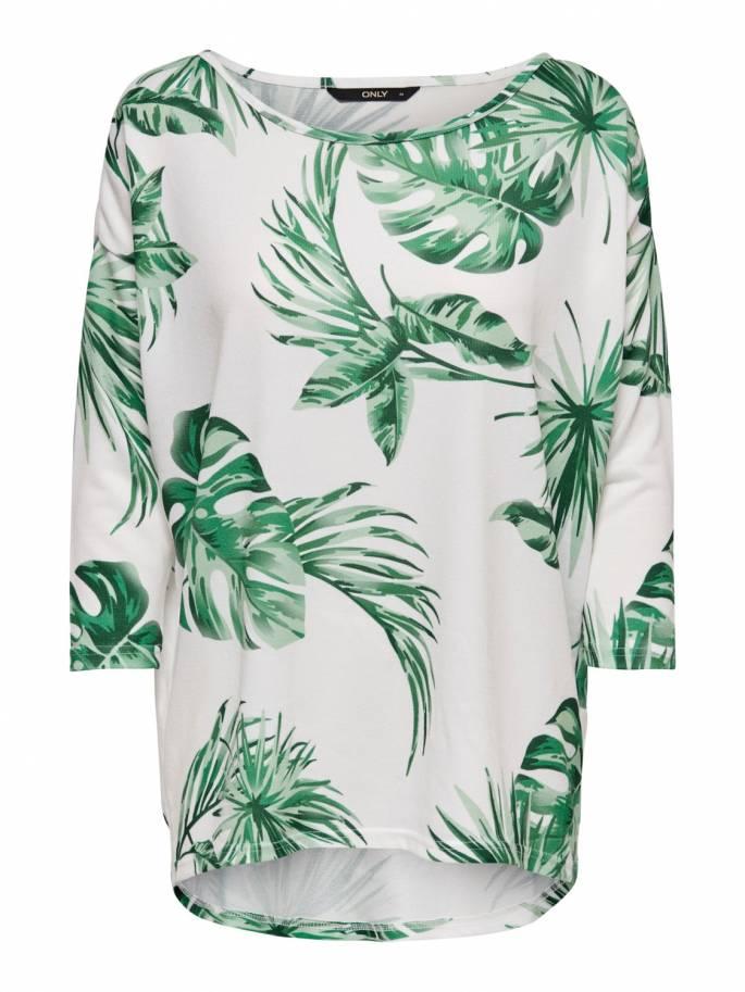 Elcos jersey con estampado de hojas de palmera corte holgado - Only - Uesti