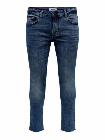 Jeans skinny fit con los bajos sin rematar - Hombre - Uesti