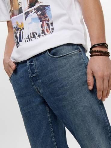 Jeans regular fit color azul - Only and sons - 22015255 - Uesti