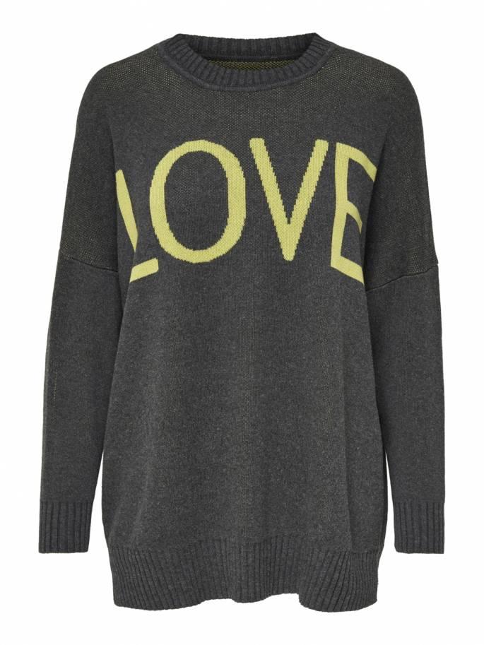 Jersey de corte largo estampado LOVE - Uesti