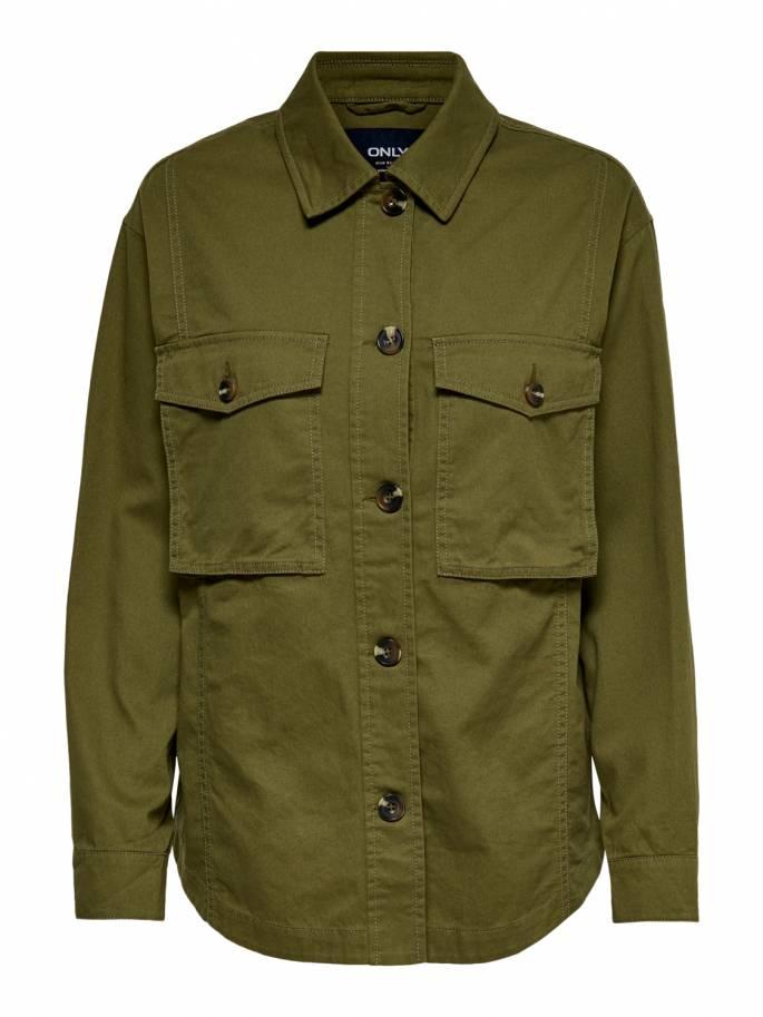 Sobre camisa en color verde militar - Uesti