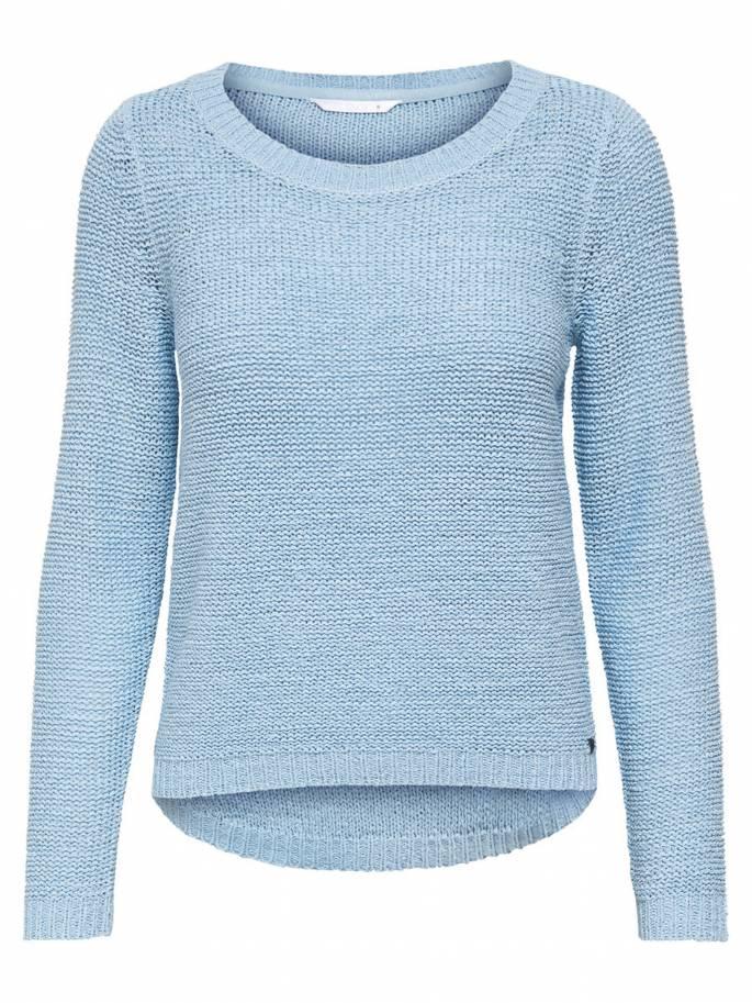 Geena Jersey de punto liso azul celeste - Only - Uesti