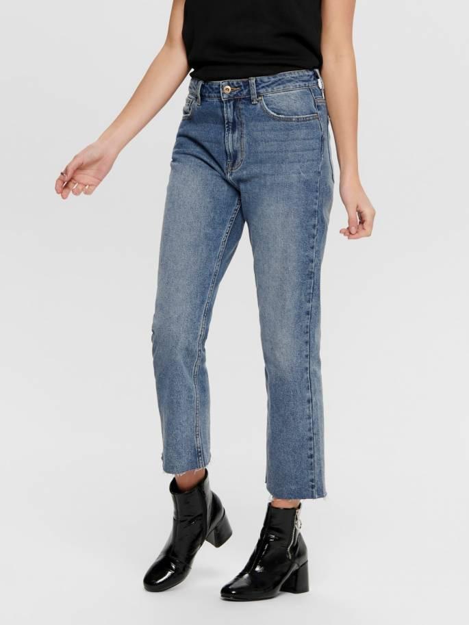 Jeans de corte straight fit de talle alto corte recto - Only
