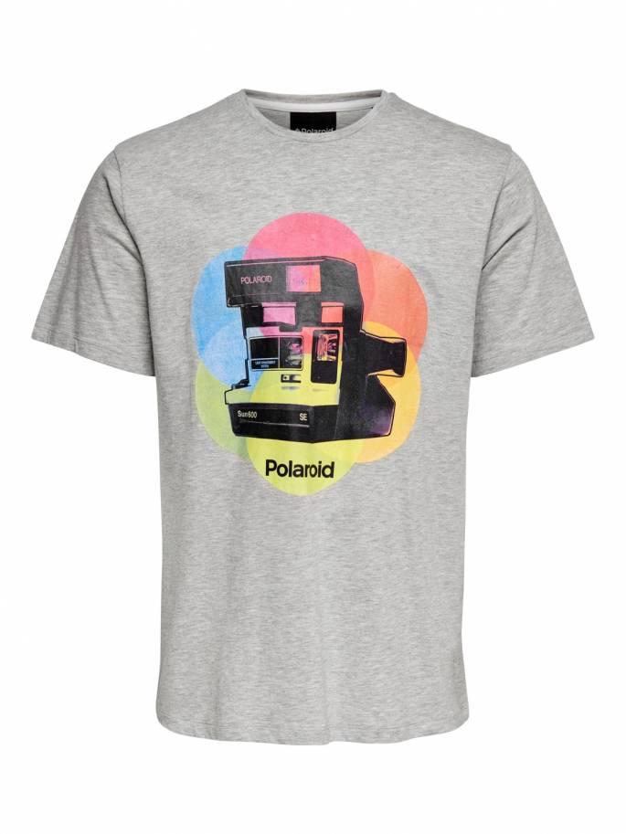 Camiseta blanca con estampado de polaroid - Only and sons - 22015964 - Uesti
