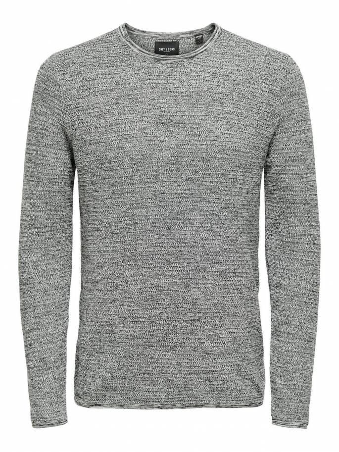 Jersey de punto texturizado color gris claro - Uesti