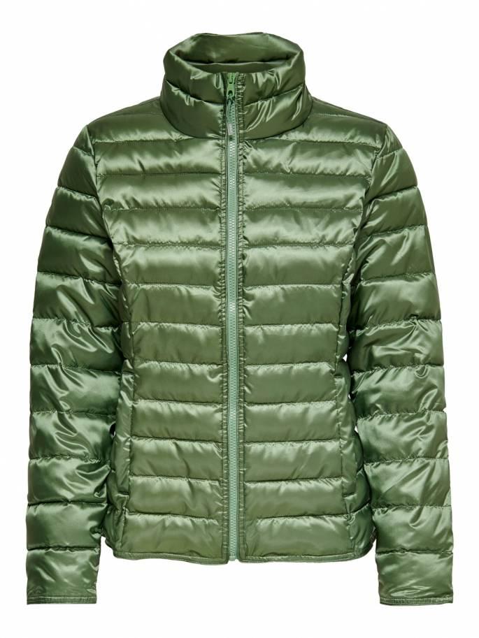 Cuello alto corta chaqueta tipo acolchada verde - 15191846