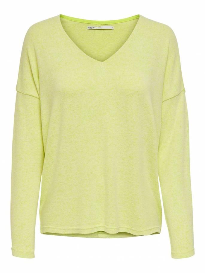 Jersey de punto con botones en la espalda amarillo - Uesti