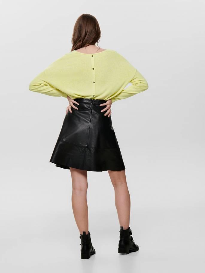 Jersey de punto con botones en la espalda amarillo - Only