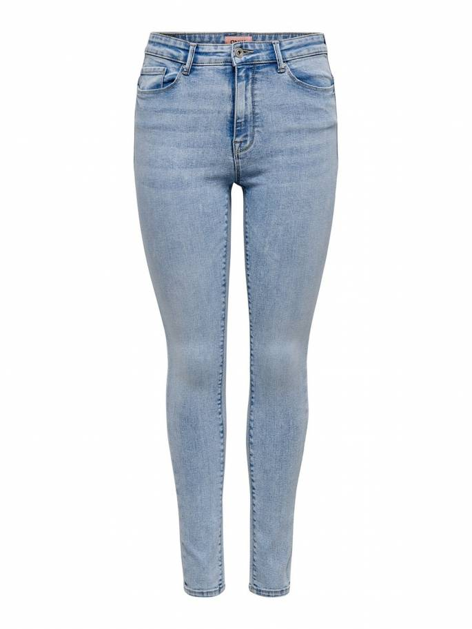Paola jeans skinny fit color azul claro - Uesti