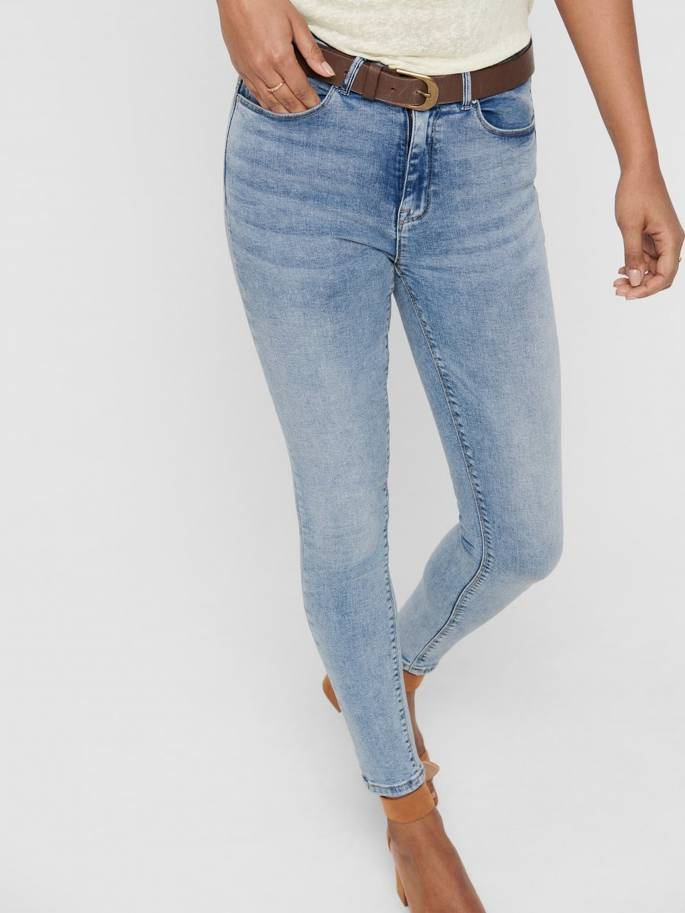 Paola jeans skinny fit color azul claro - Only