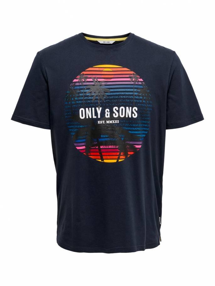 Camiseta con estampado de tropical - Hombre - Uesti