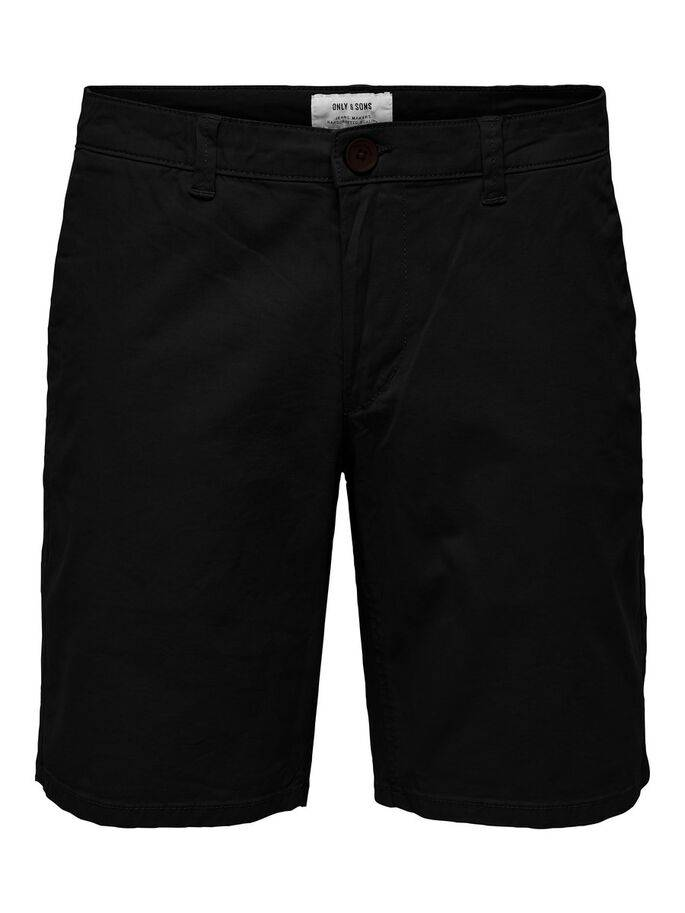 Cam shorts chinos negro - Only and sons - 22014978 - Uesti