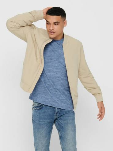 Chaqueta tipo Bómber beis - Only & Sons - 22015866 - Uesti