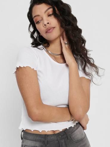 Camiseta canalé - 15201206 - Mujer - Uesti