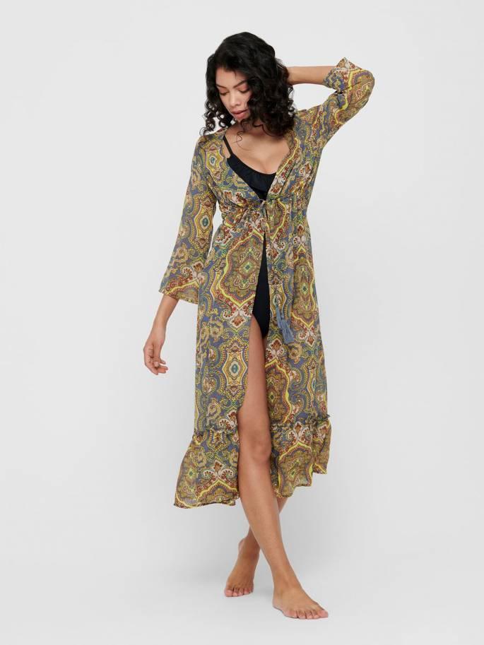 Vestido tipo quimono de playa - Only - 15196752 - Uesti