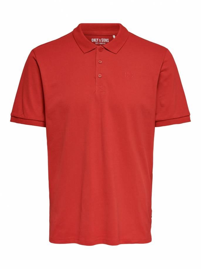 Polo Rojo básico con detalles - Hombre - 22013117 - Uesti
