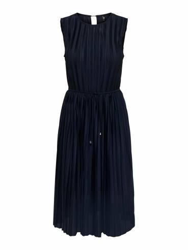 Midi vestido de tejido plisado - only - 15201887 - Uesti