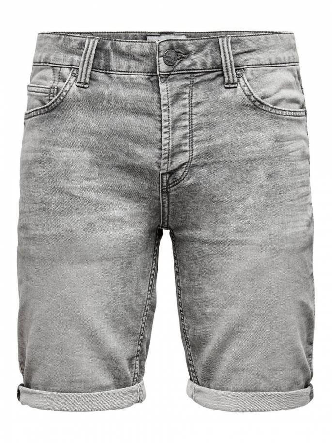 Ply grey shorts vaqueros cortos - Only and sons - 22015229 - Uesti