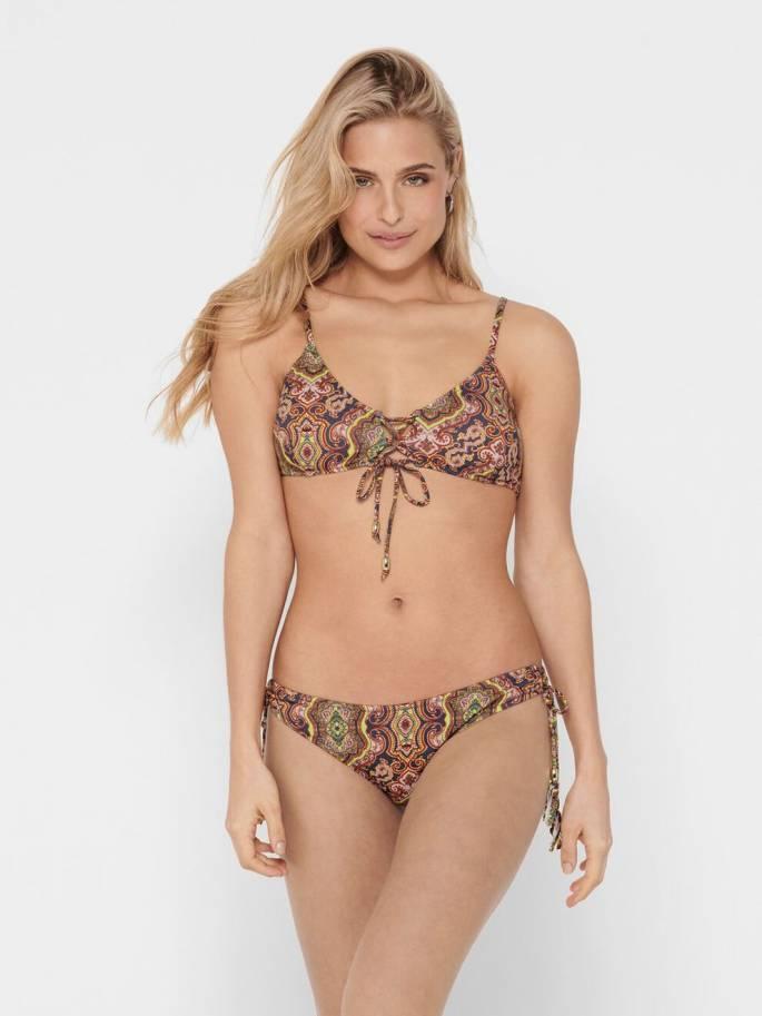 Bikini parte inferior con estampado boho - Mujer - Uesti