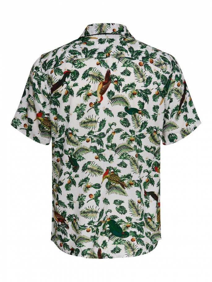 Camisa con estampado de tropical Hombre Uesti