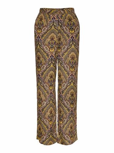 Pantalones estampados de corte holgado - Mujer - Uesti