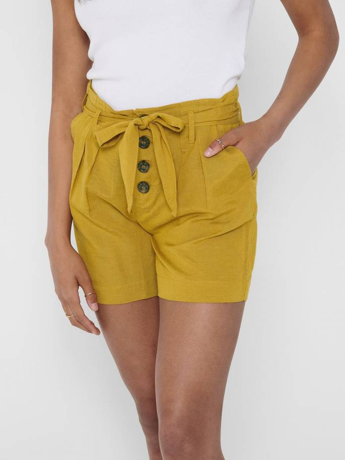 Shorts de talle alto - ONLY - 15199801 - Uesti
