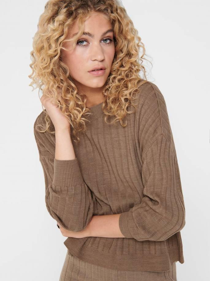 Jersey básico de punto texturizado - Mujer - UESTI