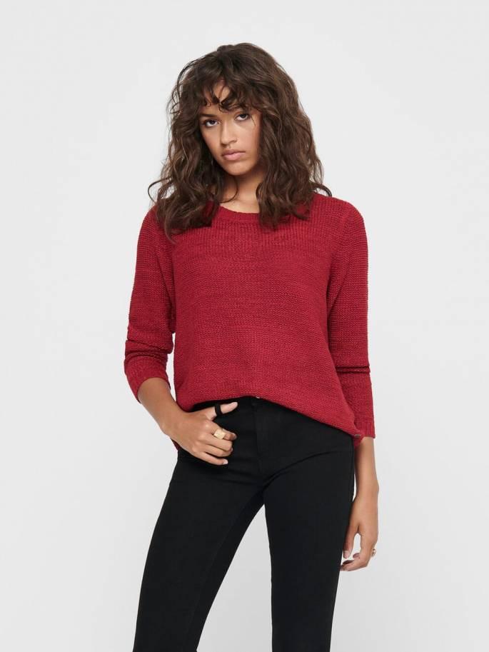 Geena Jersey de punto liso rojo - Only - 15113356