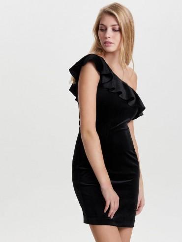 Vestido de fiesta de terciopelo de un solo hombro - Only - Uesti