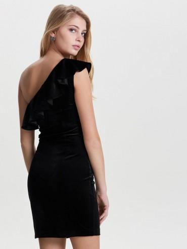 artesanía exquisita grandes ofertas precio al por mayor Vestido de fiesta de terciopelo de un solo hombro - Mujer ...
