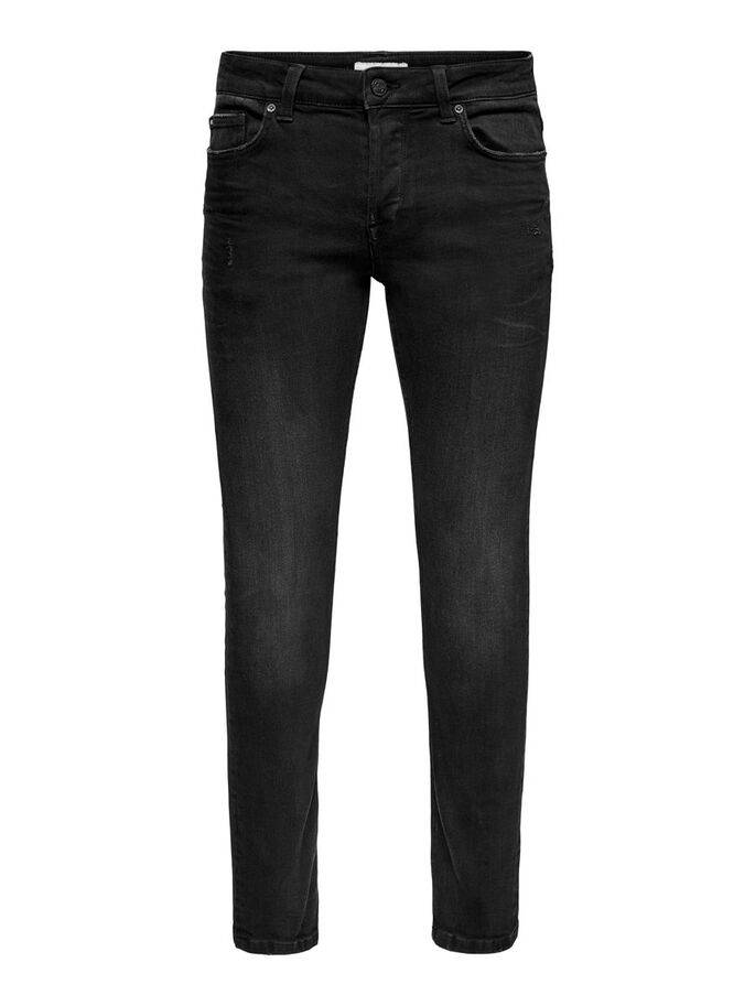 Jeans Slim Fit de color negro - Hombre - Uesti