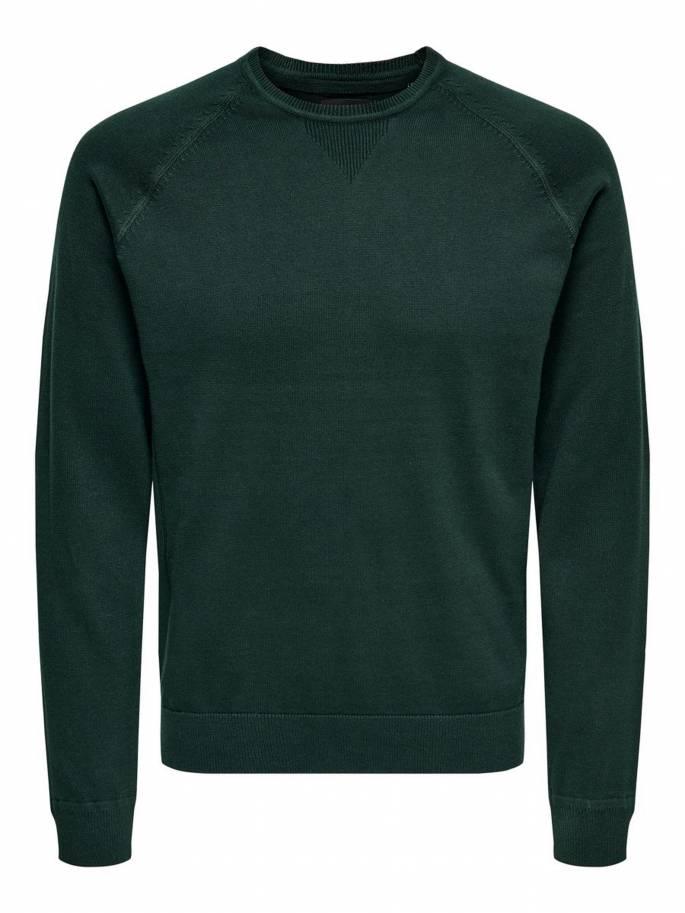 Jersey de punto color verde - Hombre - Uesti
