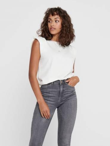 Camiseta con hombreras - Mujer - Uesti