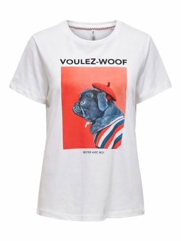 Camiseta con estampado frontal  - Mujer - Uesti