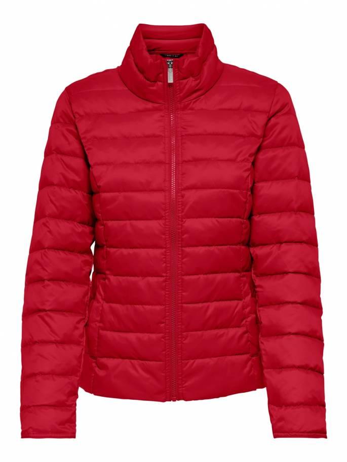 Cuello alto corta chaqueta tipo acolchada roja - Mujer - Uesti