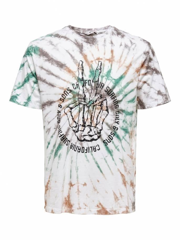 Camiseta tie-dye de corte regular -  Hombre - Uesti