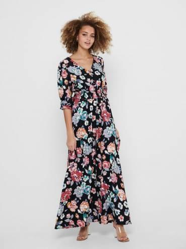 Vestido maxi de flores de manga larga - Mujer - Uesti