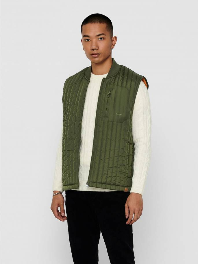 De chaleco acolchado verde - Hombre - Uesti