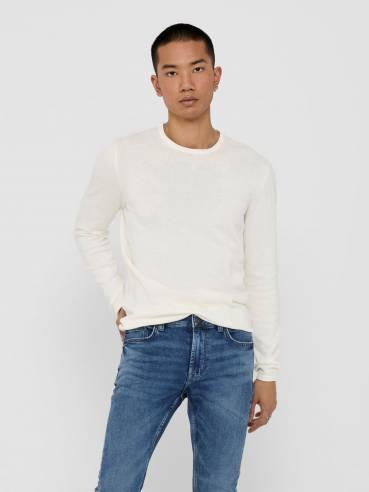 Jersey de punto color blanco - Hombre - Uesti