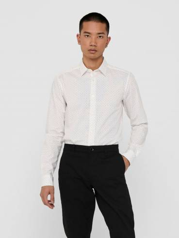 Camisa clásica con pequeño estampado - Hombre - Uesti